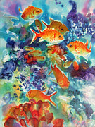 Caribbean Sea Paintings - Deep Waters by Deborah Younglao