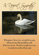 Sympathy Metal Prints - Deepest Sympathy Card Metal Print by Carolyn Marshall
