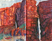 Grand Canyon Drawings - Deer Creek by Scott Barnes