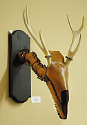 Wall Mask Mixed Media - Deer Dance by Nick Shotwell