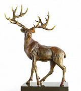 Deer Sculpture Originals - Deer by Lybomir Lazarov