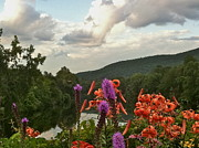 Bridge Of Flowers Prints - Deerfield River Vista Print by Jess Kielman