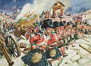Crowds Paintings - Defence of Corunna by C L Doughty