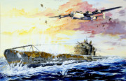 Sunset Drawings Originals - Defending the Coast by Charles Taylor