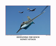 World War Two Photo Posters - Defending The Reich Komet Attack Poster by Jerry Taliaferro