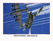World War Two Photo Posters - Defending The Reich Messerschmitt Poster by Jerry Taliaferro