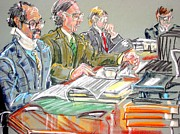 Lawyers Paintings - Defense Table by Les Leffingwell