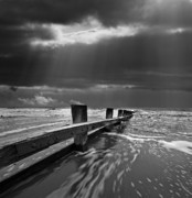 Groyne Prints - Defensive Print by Meirion Matthias