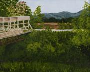 Farmland Painting Originals - Defiance Junction - Katy Trail by Kathleen Keller