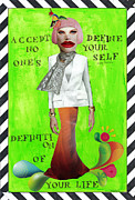 Empowerment Mixed Media Posters - Define Yourself Poster by Mare-Liis  Balles