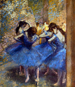 Tutu Photo Framed Prints - DEGAS: BLUE DANCERS, c1890 Framed Print by Granger