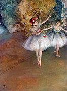 Ballet Art Prints - DEGAS: DANCERS, c1877 Print by Granger