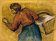 Joel Framed Prints - DEGAS: LAUNDRESS, c1888-92 Framed Print by Granger