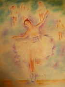 Line Pastels Originals - Degas Runner   Finish Line by Sandy Ryan