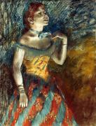 Singer Photos - Degas: Singer In Green by Granger
