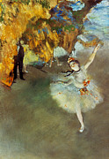 Pastel Art Prints - Degas: Star, 1876-77 Print by Granger