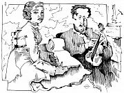 Gary Peterson Art - Degas Violin Teacher and Young Woman by Gary Peterson