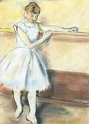 Degas Drawings Framed Prints - Degass Ballerina Framed Print by Amanda Faries