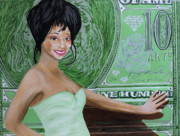 Music Theme Paintings - Deja Vu Diva by Angelo Thomas