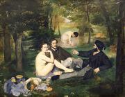 Grass Painting Metal Prints - Dejeuner sur l Herbe Metal Print by Edouard Manet