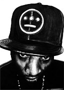 Bdcurran Drawings - Del The Funky Homosapien by Brian Curran