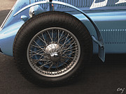 Indy Car Prints - Delage D6 Left Front Wheel  Print by Curt Johnson