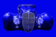Import Cars Digital Art Prints - Delahaye . Blue Print by Wingsdomain Art and Photography