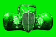Import Cars Digital Art Prints - Delahaye . Green Print by Wingsdomain Art and Photography