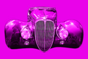 Import Cars Digital Art Prints - Delahaye . Magenta Print by Wingsdomain Art and Photography