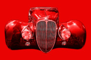 French Cars Prints - Delahaye . Red Print by Wingsdomain Art and Photography