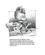 Humorous Greeting Cards Drawings Metal Prints - Delbert Metal Print by Curtis Chapline