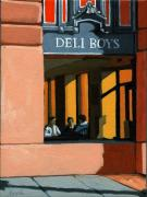 Linda Apple Photo Prints - Deli Boys - Cafe Print by Linda Apple