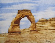 National Parks Paintings - Delicate Arch by Christine Rinke