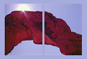 Travel Destinations Mixed Media - Delicate Arch Diptych by Steve Ohlsen