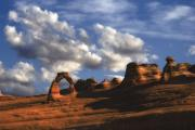 Slickrock Photo Prints - Delicate Arch in Arches National Park Print by Utah Images