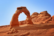 Warm Colors Photos - Delicate Arch The Arches National Park Utah by Christine Till