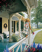 Front Porch Prints - Delicate Balance Print by Greg Olsen