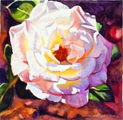 Floral Paintings - Delicate Princess Rose by David Lloyd Glover