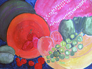 Kiwi Painting Originals - Delicious Summer Fruits by Sandy McIntire