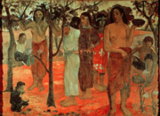 Women Children Metal Prints - Delightful Days Metal Print by Paul Gauguin