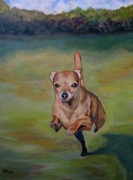 Chihuahua Paintings - Delilah by Kellie Straw