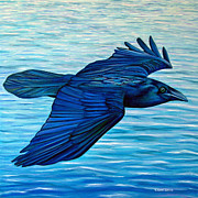 Birds Of Prey Paintings - Deliverance by Brian  Commerford