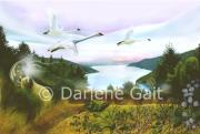 Canadian Indian Art Paintings - Deliverance by Darlene Gait