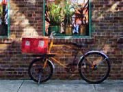 Delivery Bicycle Greenwich Village Print by Susan Savad