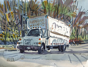 Delivery Truck Paintings - Delivery Truck One by Donald Maier