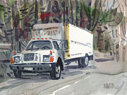Delivery Truck Paintings - Delivery Truck Two by Donald Maier