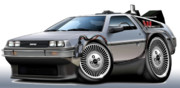 Delorean Art Framed Prints - Delorean Back to the Future Framed Print by Maddmax