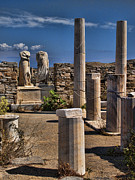 Ancient Civilization Framed Prints - Delos Island Framed Print by David Smith