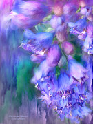 Blue Delphinium Posters - Delphinium Abstract Poster by Carol Cavalaris