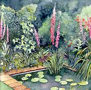 Gardenscape Paintings - Delphiniums by Val Stokes